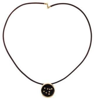 Syna 18K Onyx & Diamond Gemini Pendant Necklace