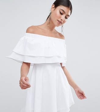 Missguided exclusive double layer frill skater dress
