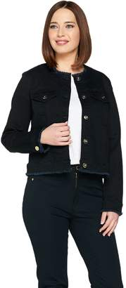 Belle By Kim Gravel Belle by Kim Gravel Jean Jacket with Frayed Edge Detail