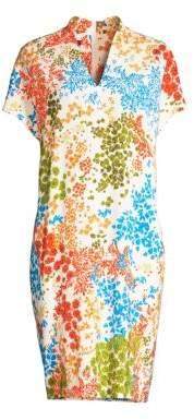 Escada Women's Dixanula Leaf Print Tunic Dress - Size 36 (6)