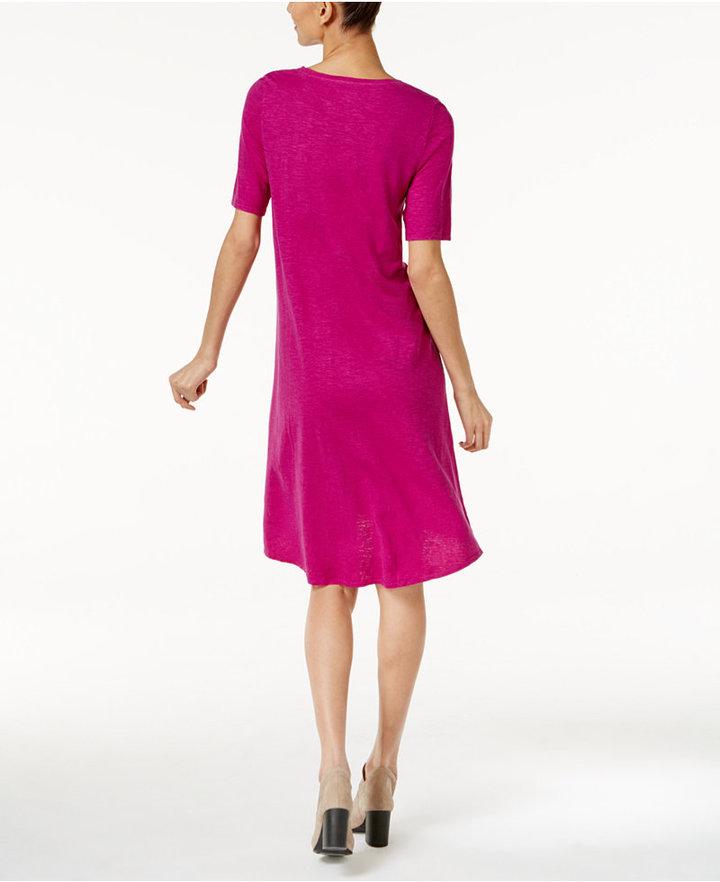 Eileen Fisher Hemp-Organic Cotton Shift Dress 2