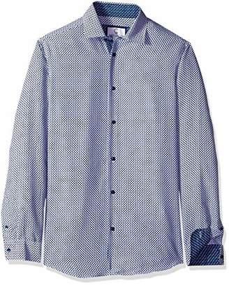 Gents Azaro Uomo Men's Printed Dress Shirt Casual Button Down Slim Fit Long,XXL