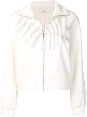 Area short zipped jacket