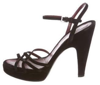 Prada Suede Crossover Sandals