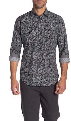 Bugatchi Patterned Long Sleeve Shaped Fit Shirt