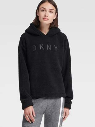 DKNY Pullover Embroidered Logo Hoodie