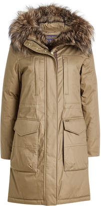 Woolrich Essex Military Down Parka with Fur-Trimmed Hood