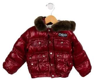Dolce & Gabbana Boys' Fur-Trimmed Down Coat