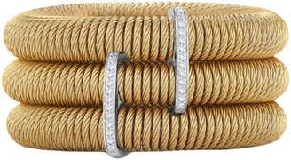 Alor Kai 18K & Stainless Steel 0.24 Ct. Tw. Diamond Cable Bracelet