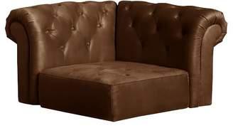 Pottery Barn Teen Cushy Roll Arm Lounge Corner Chair, Trailblazer Faux-Suede