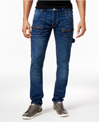 GUESS Men's Drop-Hem Slim- Fit Tapered Carpenter Jeans $138 thestylecure.com