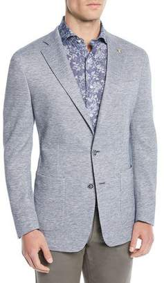 Peter Millar Men's Santorini-Knit Chambray Soft Blazer Jacket