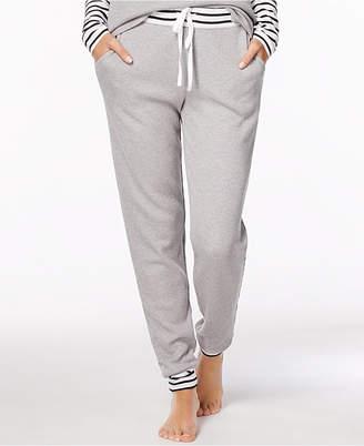Alfani Striped-Trim Thermal Pajama Pants