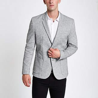 River Island Light grey jersey skinny fit blazer