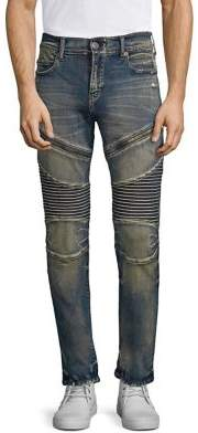 True Religion Rocco Moto Combat Slim-Fit Jeans