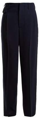 Golden Goose Sally High Rise Straight Leg Trousers - Womens - Navy
