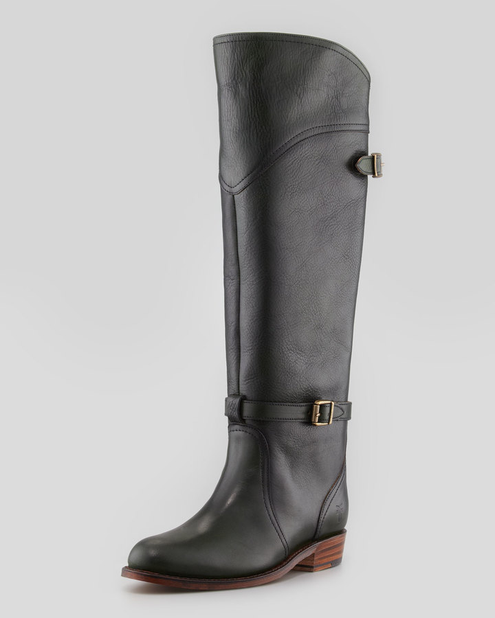 Frye Dorado Leather Riding Boot, Green