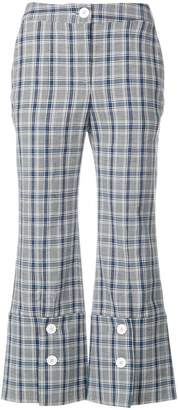 Eudon Choi check cropped trousers