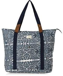 Roxy Bags Other Side Shopper Bag - Marshmallow Tribal Vibes Strip