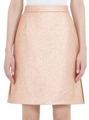 Carven Metallic Mini Skirt