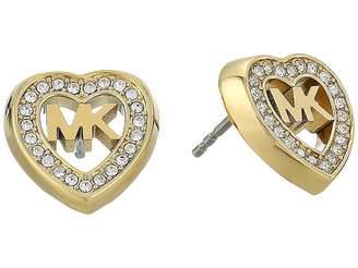 Michael Kors Love Is In The Air Pave Heart Stud Earrings