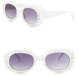 Steve Madden 53mm Oval Sunglasses