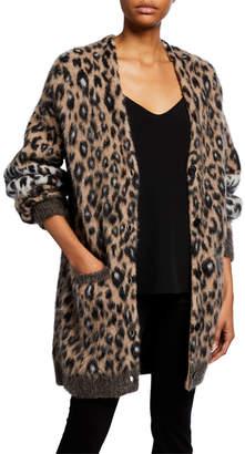 A.L.C. Leone Leopard-Print Cardigan