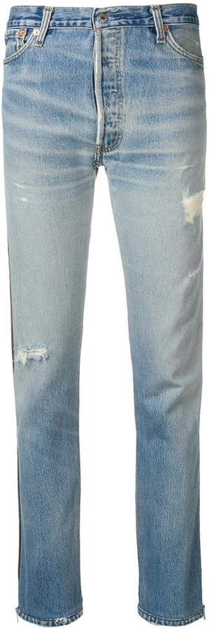Re/Done Levi's high rise ankle crop jeans
