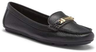 Calvin Klein Lunasi Pebbled Leather Loafer