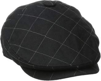 San Diego Hat Company San Diego Hat Co. Men's Quilted Driver Hat with Faux Leather Underbrim Self Button
