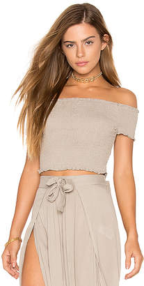 Cleobella Faine Crop Top in Beige $99 thestylecure.com