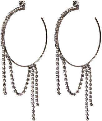 Swarovski Joomi Lim crystal fringe hoop earrings