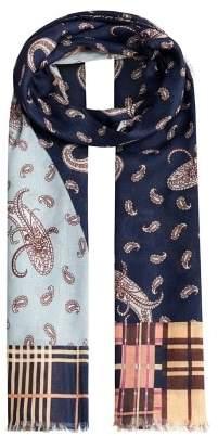Violeta BY MANGO Contrasting print scarf