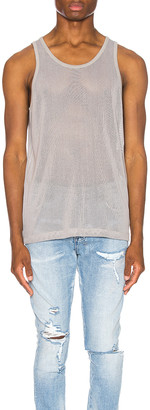 John Elliott Cotton Mesh Tank in Plaster | FWRD