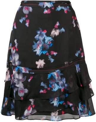 Schumacher Dorothee ruffled blossom print skirt