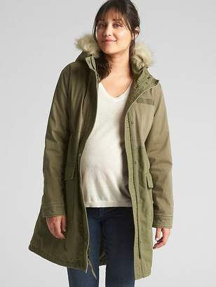 Gap Maternity Satin Lined Parka