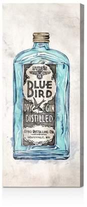 "Oliver Gal Blue Bird Gin Wall Art, 17"" x 40"""