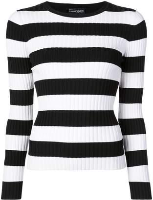 Cynthia Rowley Haven striped ribbed sweatshirt