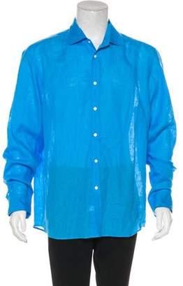 Ralph Lauren Purple Label Linen Woven Shirt w/ Tags