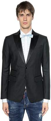 DSQUARED2 London Wool & Silk Blend Tuxedo Jacket