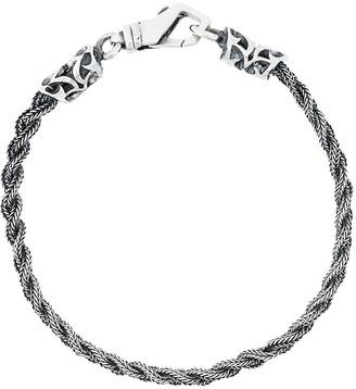 Emanuele Bicocchi thin braided bracelet