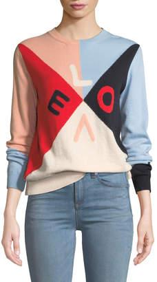 Chinti and Parker Mexicano Love Colorblock Cashmere Sweater