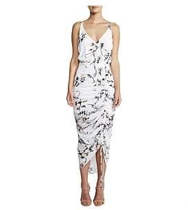 Shona Joy Ruched Cocktail Midi Dress