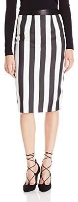 KENDALL + KYLIE Women's Stripe Pencil Skirt