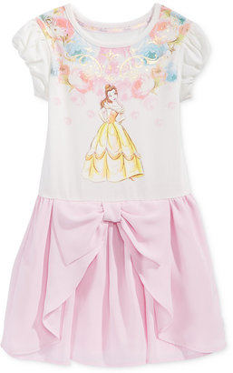 Disney's® Beauty and The Beast Princess Belle Graphic-Print Popover Dress, Toddler & Little Girls (2T-6X) $36 thestylecure.com