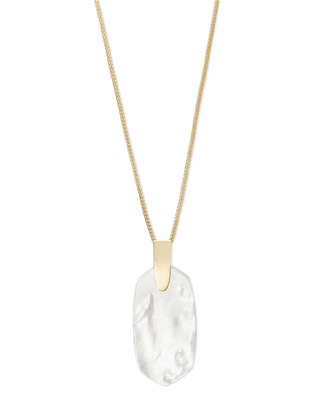Kendra Scott Inez Long Pendant Necklace in Gold