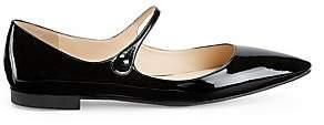 Prada Women's Patent Leather Mary Jane Flats
