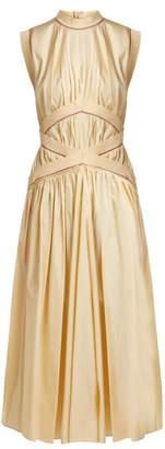 Roksanda Braelyn Sleeveless Cotton Poplin Dress - Womens - Cream