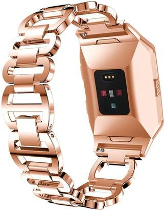 Fitbit GreatTry For Ionic Smart Watch Watchbands, Luxurious Accessory Stainless Steel Strap Crystal Diamond Bracelet