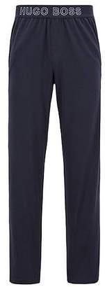 HUGO BOSS Jersey pyjama bottoms with logo-jacquard waistband